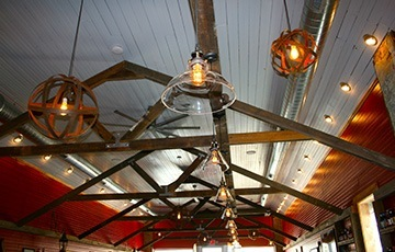 THE FIRE BARN Restaurant ceiling view