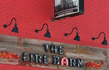 THE FIRE BARN Restaurant Name plate