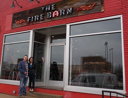 THE FIRE BARN Restaurant front view